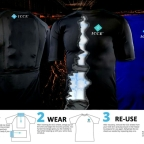 Ice pack shirt used by Chiropractors and Athletes for quicker recovery